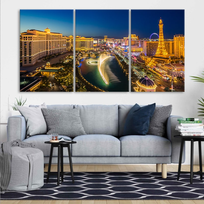 Las Vegas Skyline canvas wall art large