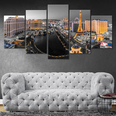Las Vegas Strip Aerial View Pop Canvas Wall Art