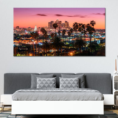 downtown los Angeles skyline canvas wall art large