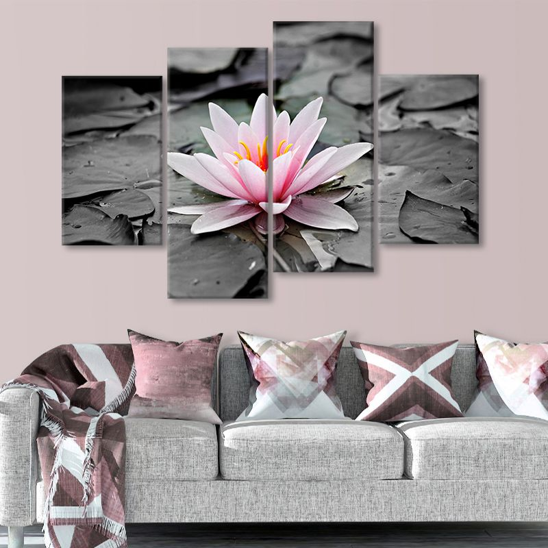 lotus blossom wall art set of 4