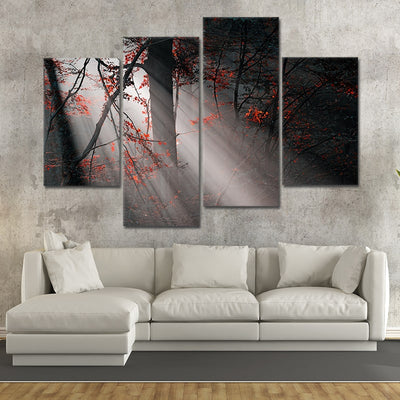 Foggy Forest wall art set of 4