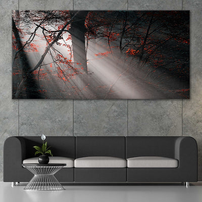 Foggy Forest canvas wall art large