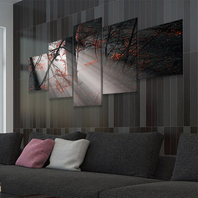 Foggy Forest 5 piece canvas art