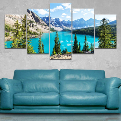 Moraine Lake in Banff National Park Canvas Wall Art