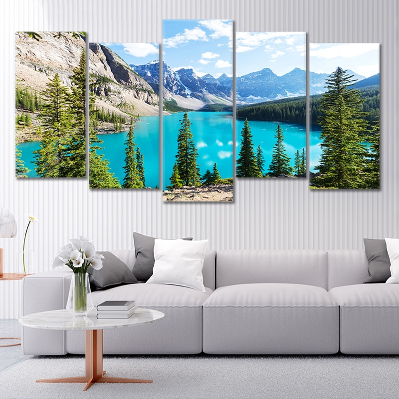 Moraine Lake In Banff National Park Canvas Wall Art Stunning Canvas Prints