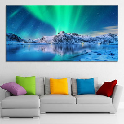 Northern Lights Lake framed wall art