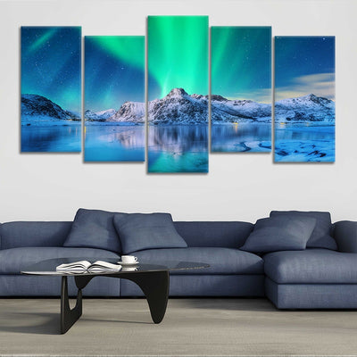 Northern Lights Lake multi panel wall art