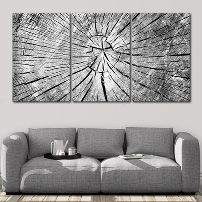 Old Grey cracked Wood wall canvas
