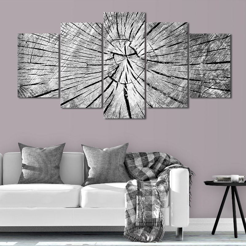 Old Grey cracked Wood large wall art