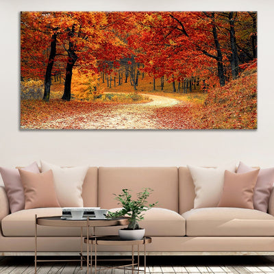 Autumn Forest canvas wall art large