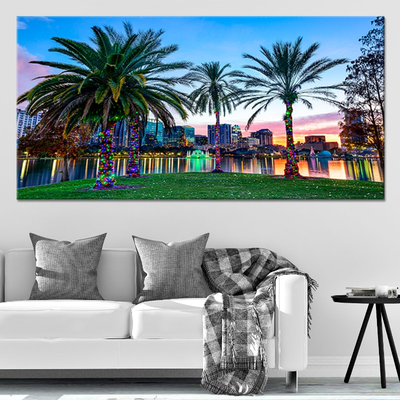 Orlando Skyline Multi Panel Canvas Wall Art