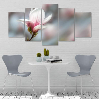 Peaceful Pink Flower 5 piece canvas set
