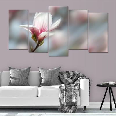 Peaceful Pink Flower canvas wall art