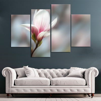 Peaceful Pink Flower large wall art