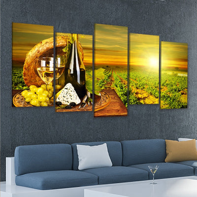 Napa Vineyard 5 piece wall art