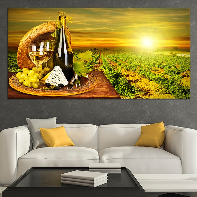 Napa Vineyard canvas wall art large