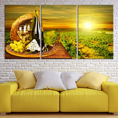 Napa Vineyard 3 piece wall art