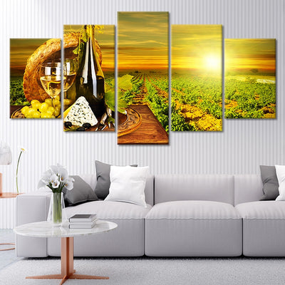 Napa Vineyard 5 piece canvas art