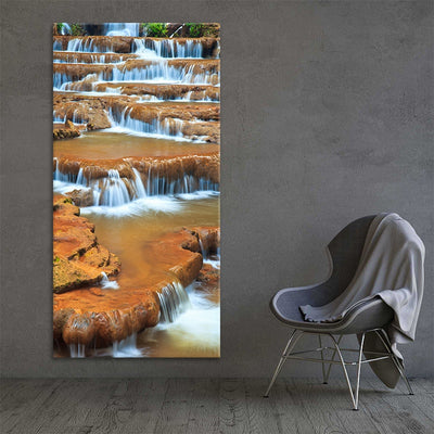 Peaceful Waterfall Multi Panel Canvas Wall Art