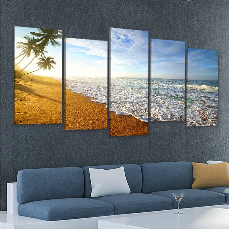 private island 5 piece wall art