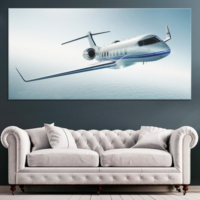 Private Jet 1 piece Canvas Wall Art