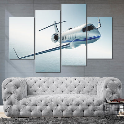 Private Jet 4 piece Multi Panel Canvas Wall Art
