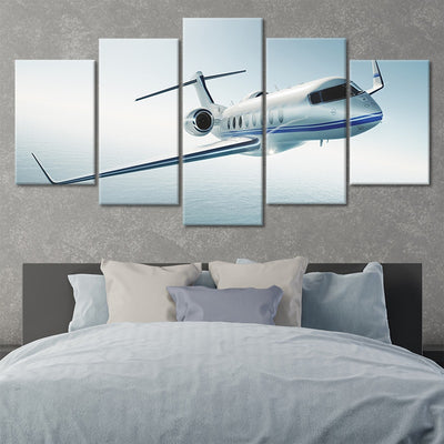 Private Jet 5 piece Multi Panel Canvas Wall Art