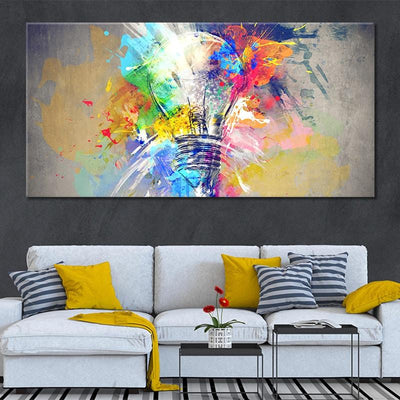 Psychedelic Abstract Bulb large wall art