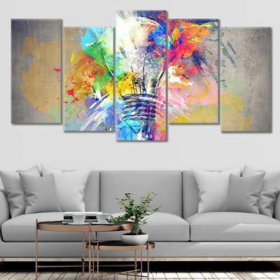 Psychedelic Abstract Bulb framed wall art