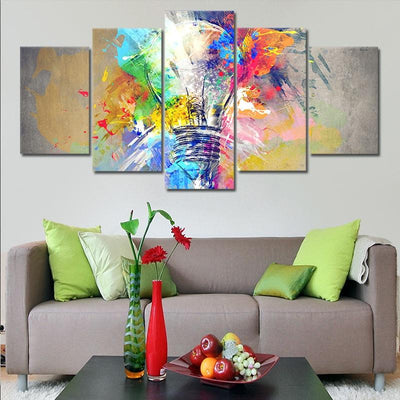 Psychedelic Abstract Bulb canvas wall art