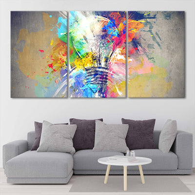 Psychedelic Abstract Bulb multi panel canvas wall art
