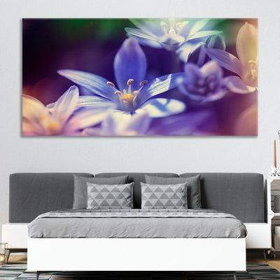 Purple Flower Close Up large canvas wall art