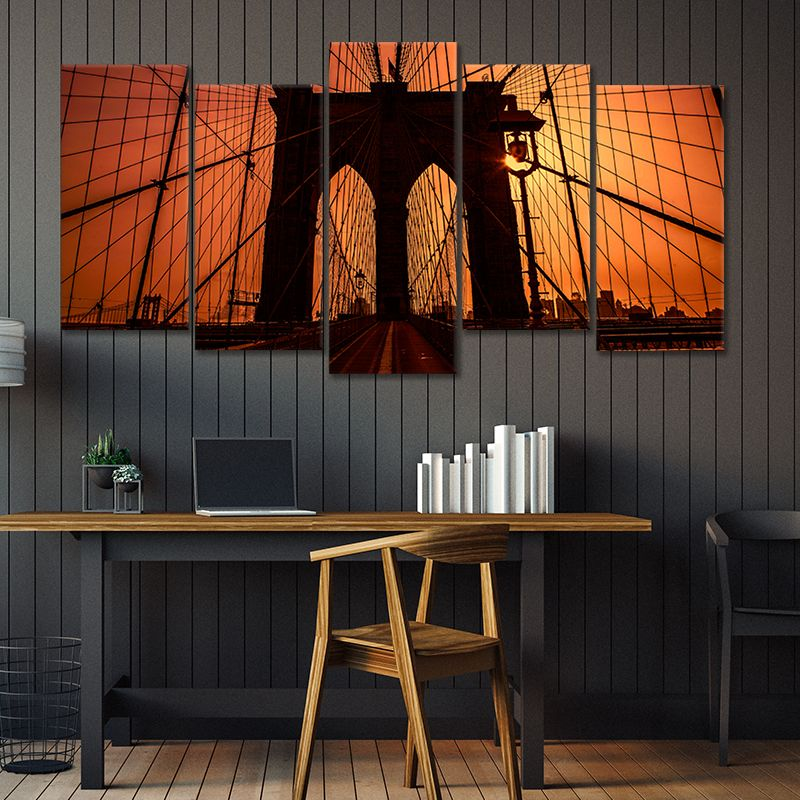 Brooklyn Bridge Walk 5 piece wall art
