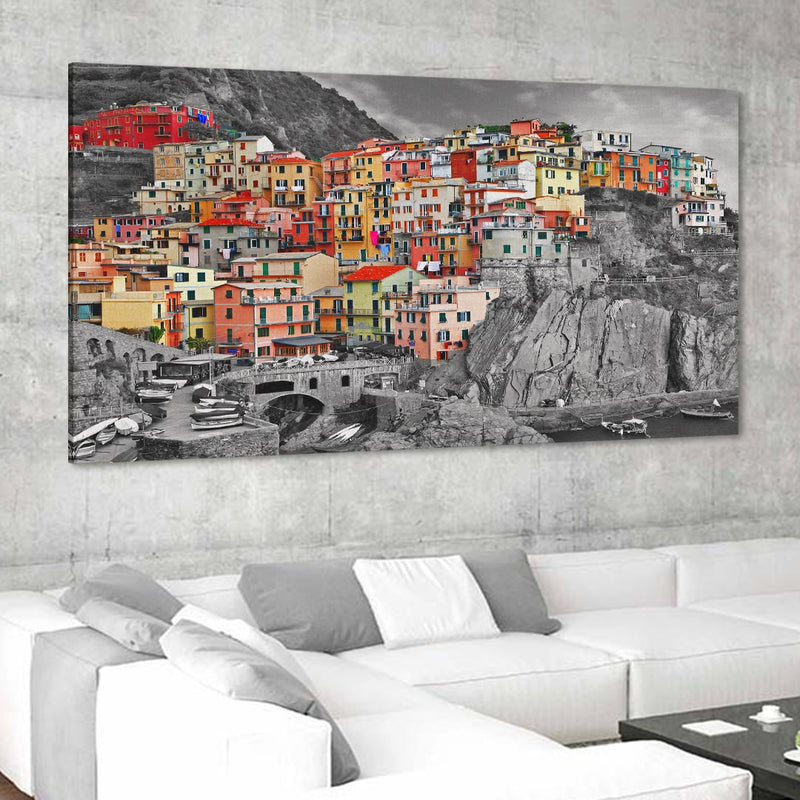 Riomaggiore in the Cinque Terre Canvas Wall Art