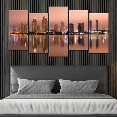 San Diego Skyline at Dusk Canvas wall art