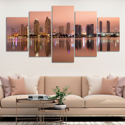 San Diego Skyline at Dusk framed wall art