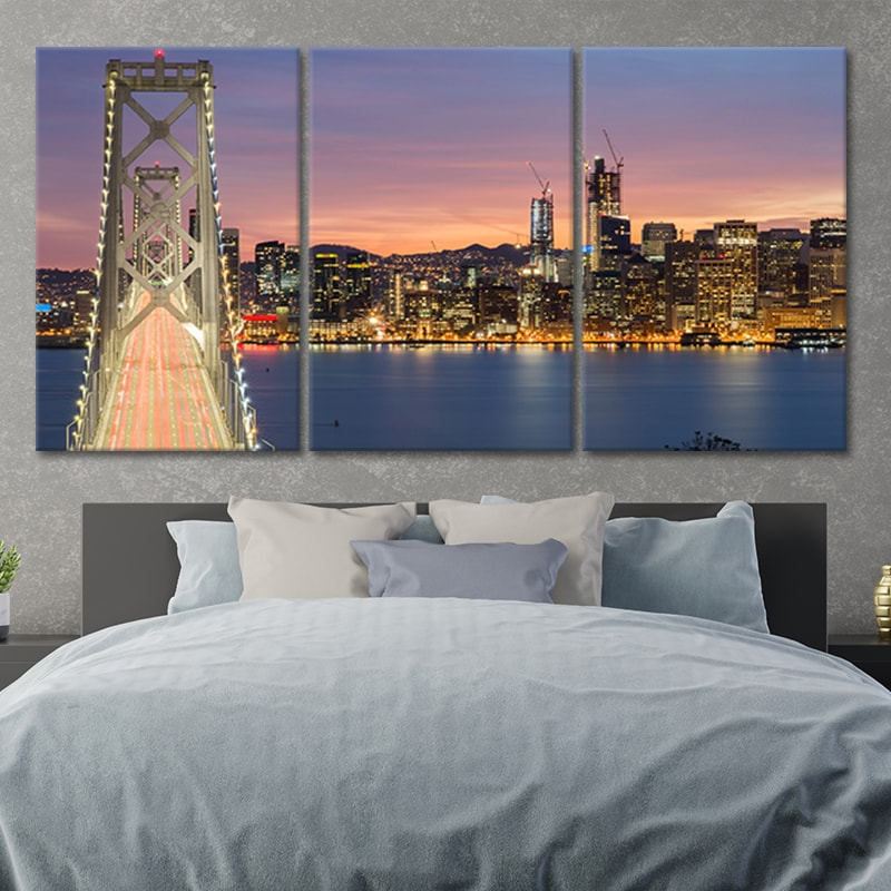San Francisco Oakland Bay Bridge Canvas Wall Art