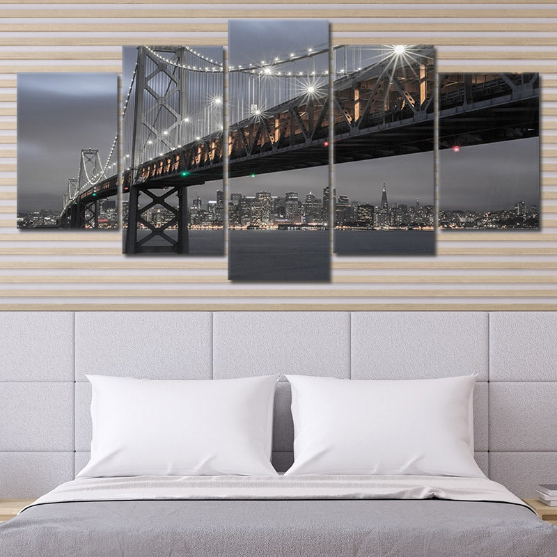san Francisco Oakland Bridge canvas wall art