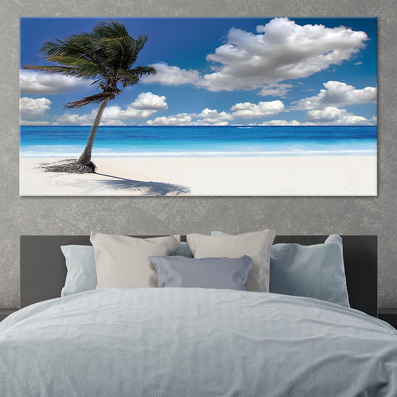 Sandy Beach Hawaii canvas wall art large