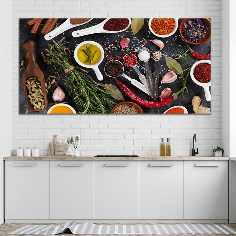 Seasoning and Spices Multi Panel Canvas Wall Art