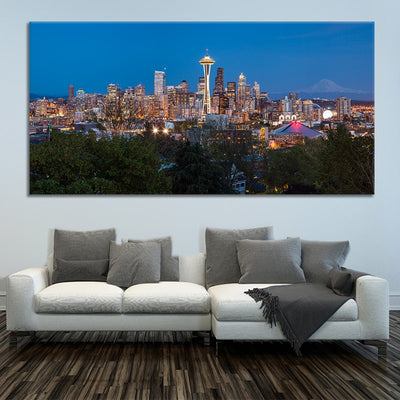 Seattle Skyline wall canvas