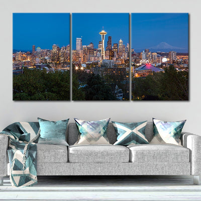 Seattle Skyline Canvas set