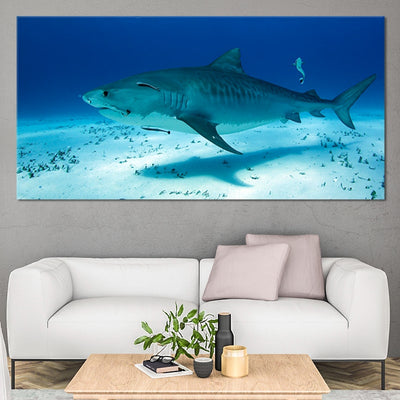 Underwater Shark Multi Panel Canvas Wall Art
