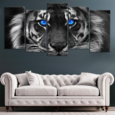 Blue Eyed Tiger Canvas Canvas Wall Art L By Stunning Canvas Prints