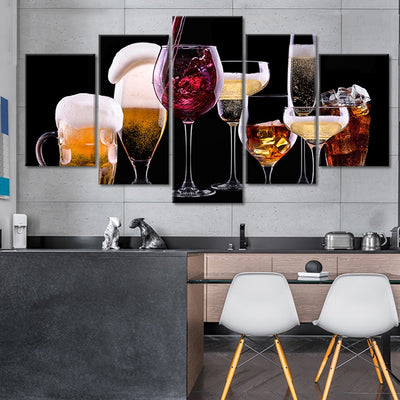 Signature Drinks Multi Panel Canvas Wall Art