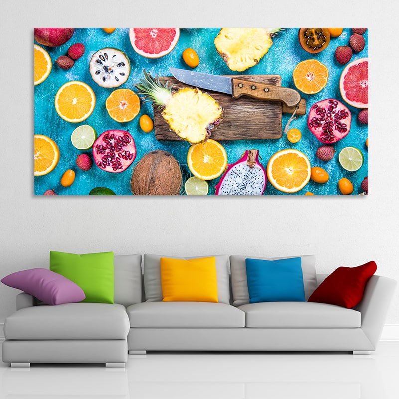 Sliced Fruits Multi Panel Canvas Wall Art