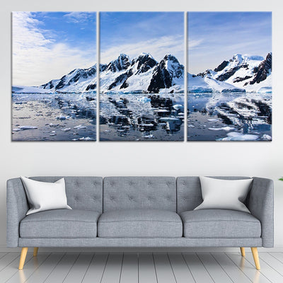 Snowy Mountains Multi Panel Canvas Wall Art