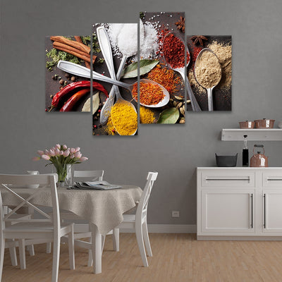 Spices & Life Kitchen Multi Panel Canvas Wall Art