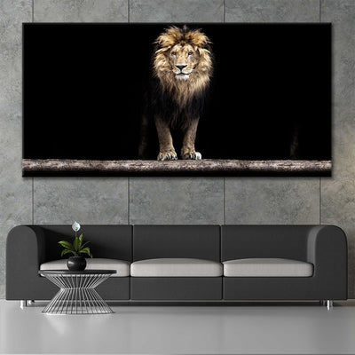 Golden Lion canvas wall art large