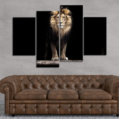 Lion Mane Hair wall art set of 4